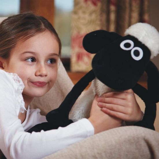 Shaun the Sheep Warmies – Microwaveable Plush - grey background