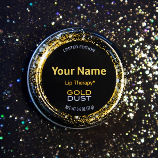 Personalised Vaseline - Gold Dust Limited Edition - Grey Background