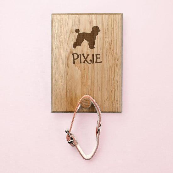 Personalised Dog Silhouette Peg Hook - Grey Background