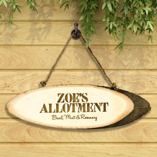 Personalised Garden Allotment Sign - Grey Background