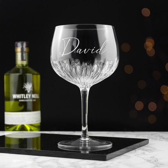 Personalised Crystal Gin Goblet - Grey Background