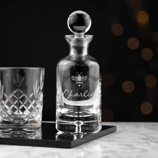 Personalised Icon Decanter - Grey Background
