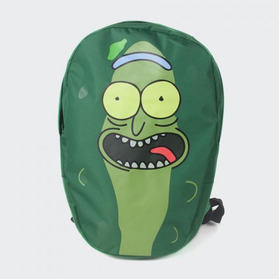 Rick and Morty Pickle Rick Shaped Backpack