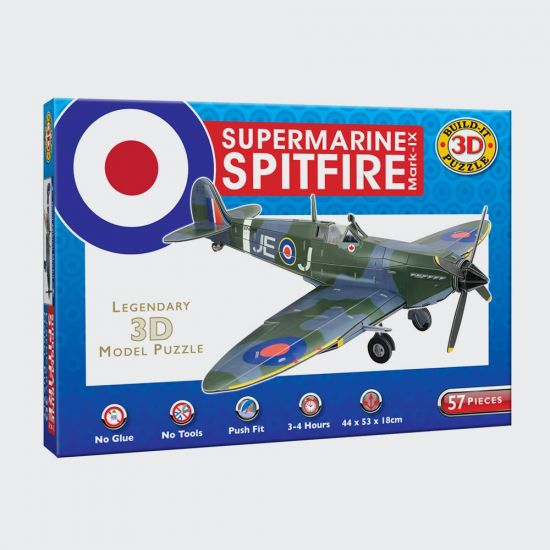 Spitfire 3D Puzzle - Grey background