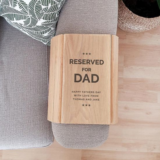 Personalised 'Reserved For' Wooden Sofa Tray