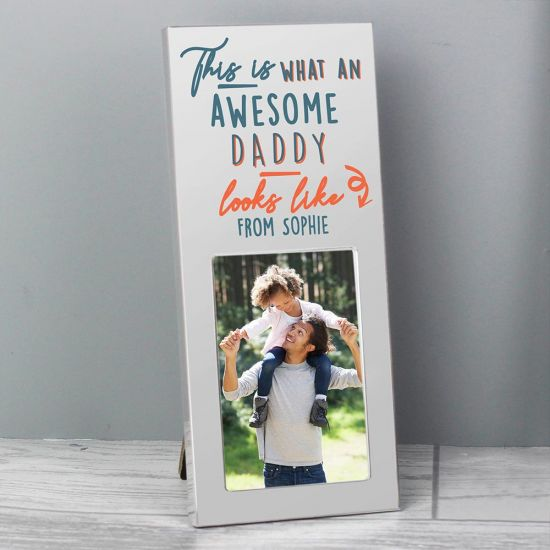 Personalised 'Awesome' Silver 2 x 3 Photo Frame