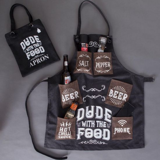 Dude with the Food Men's BBQ Apron - lifestyle