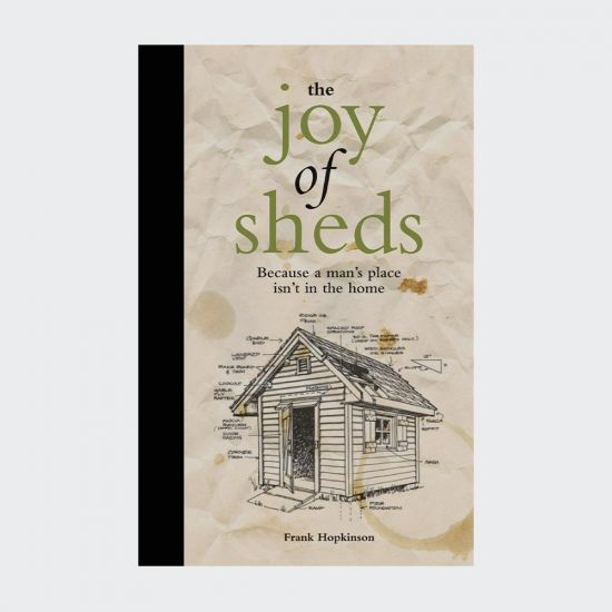 The Joy of Sheds Book - grey background