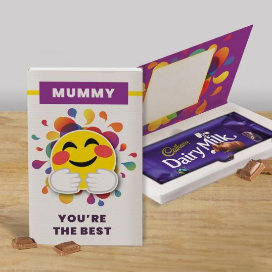 Personalised 'You're The Best' Cadbury 110g Chocolate Card - lifestyle