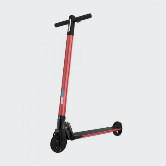Monkeylectric S14 Electric Scooter - Red - grey background
