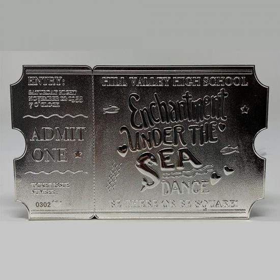 Back to the Future Silver Plated Ticket – Just 5000 Worldwide