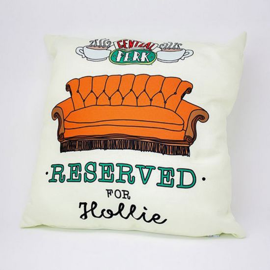 Personalised Friends 'Reserved For' Cushion