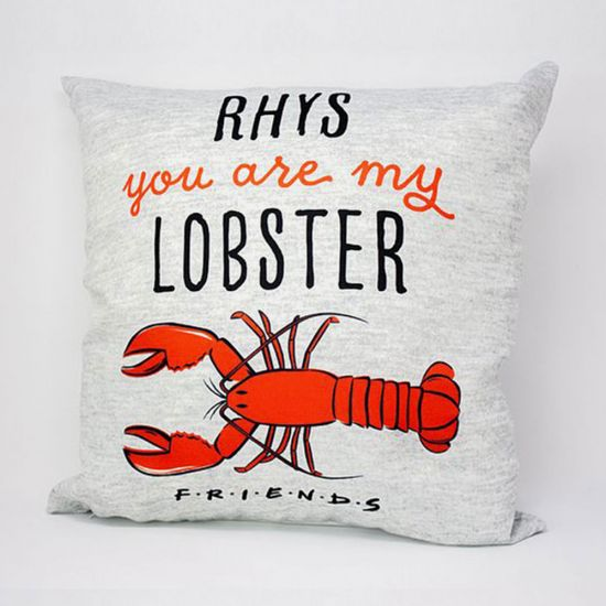 Personalised Friends Lobster Cushion