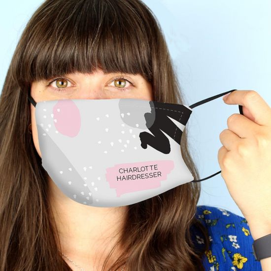 Personalised Abstract Face Mask - lifestyle