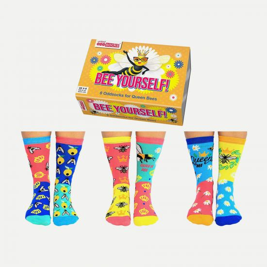 United Oddsocks Bee Yourself Socks – Pack of 6