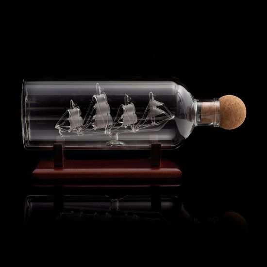Mixology Ship in a Bottle Decanter