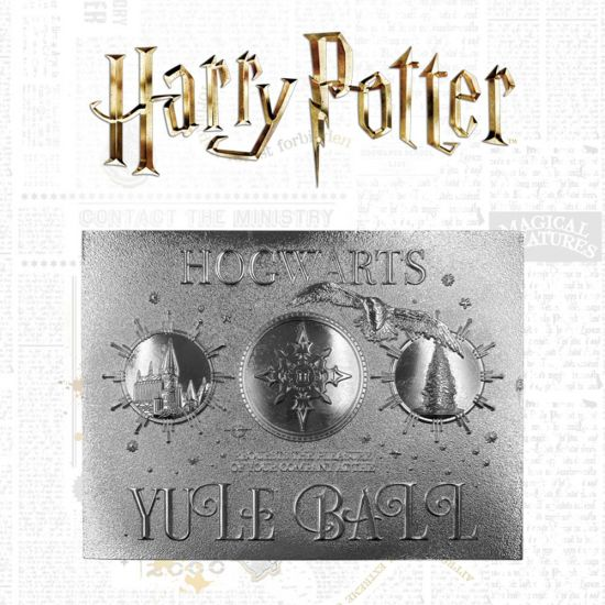 Harry Potter silver plated Yule Ball ticket