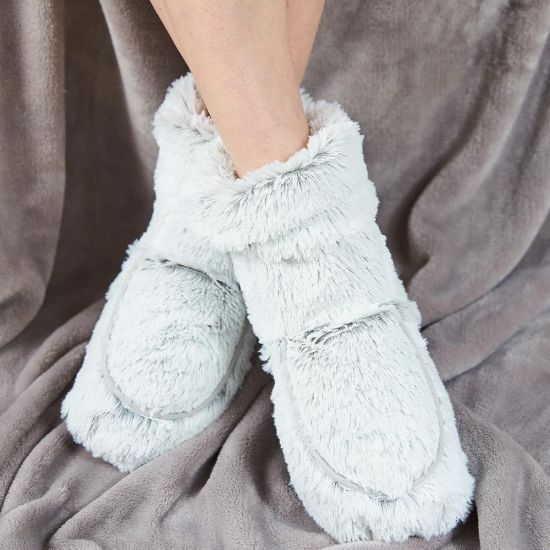 Warmies Marshmallow Grey Microwavable Boots