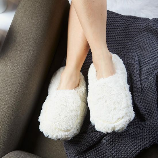 Warmies Cream Microwavable Slippers
