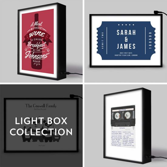 Personalised Lightbox Choice Gift Package