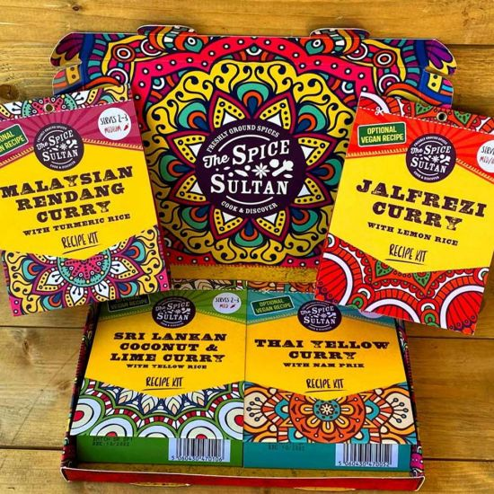 Spice Sultan Curry Discovery Gift Set – 4 Curry Packs