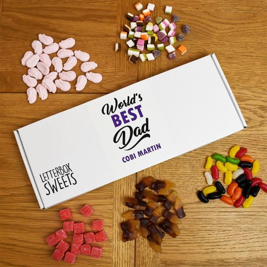 Personalised World's Best Dad - Letterbox Sweets