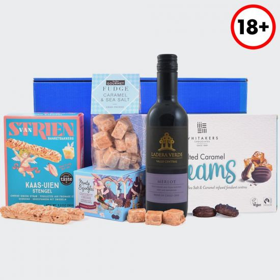 Gifts for Him – Wine and Snacks Gift Box