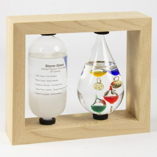 Galileo Thermometer and Storm Glass Weather Station