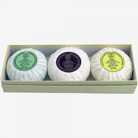 Taylor of Old Bond Street Mixed Soap – 3 Pack