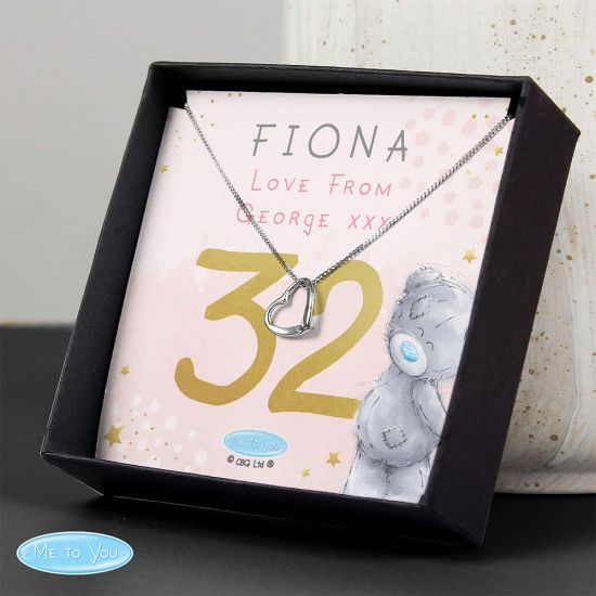Personalised Me to You Sparkle and Shine Birthday Necklace