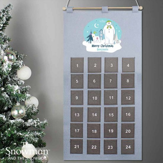 Personalised The Snowman and The Snowdog Advent Countdown