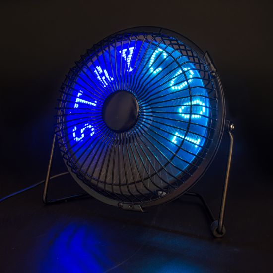 RED5 Light Up LED Message Fan