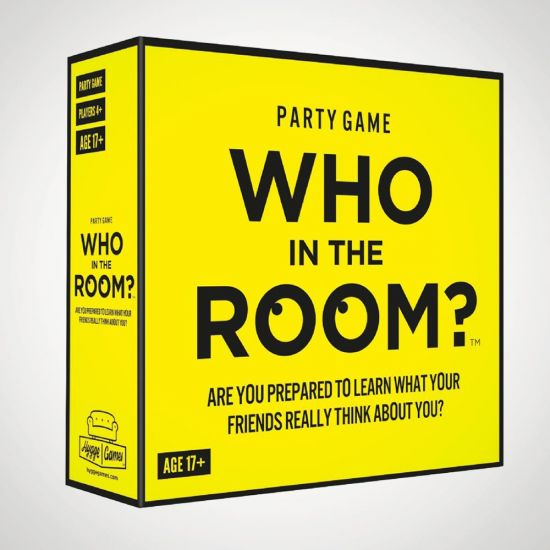 Who in the Room? Board Game  - Grey Background