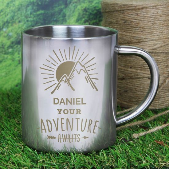 Adventure Awaits' Metal Mug 1