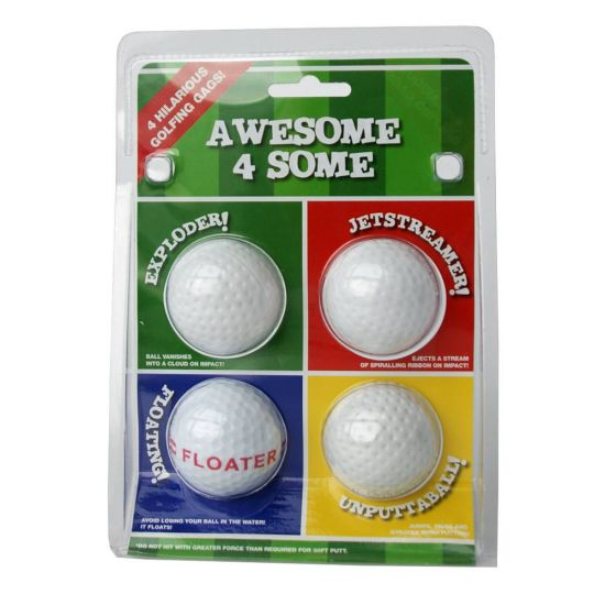 Awesome Foursome Novelty Golf Balls