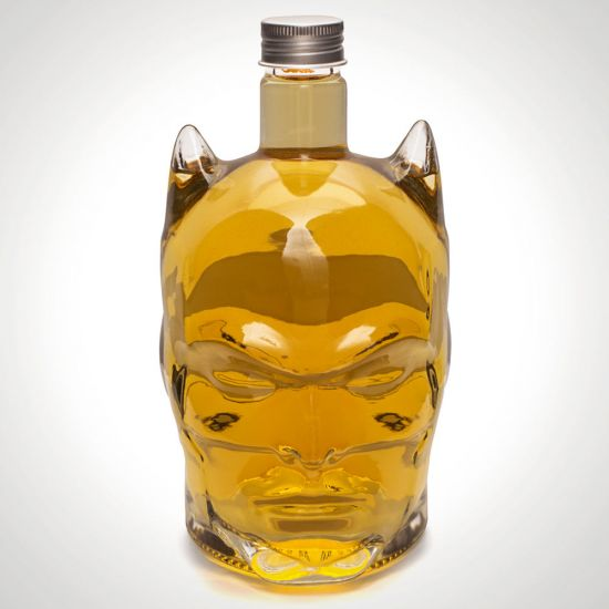 batman decanter with whiskey