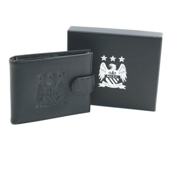 Black Leather Man City Wallet