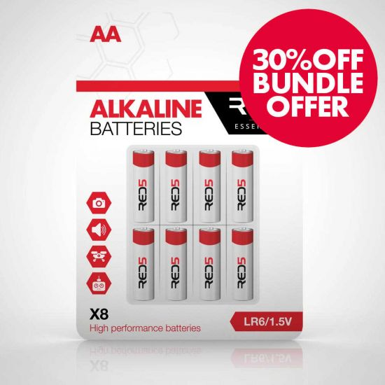 RED5 AA Batteries 8 Pack