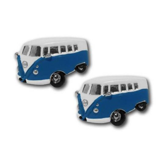 Campervan Cufflinks Blue