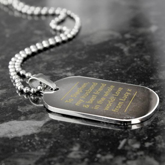 Classic Stainless Steel Dog Tag Necklace 1
