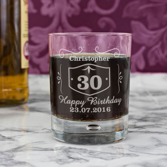 Classic Whisky Style Tumbler Bubble Glass 1