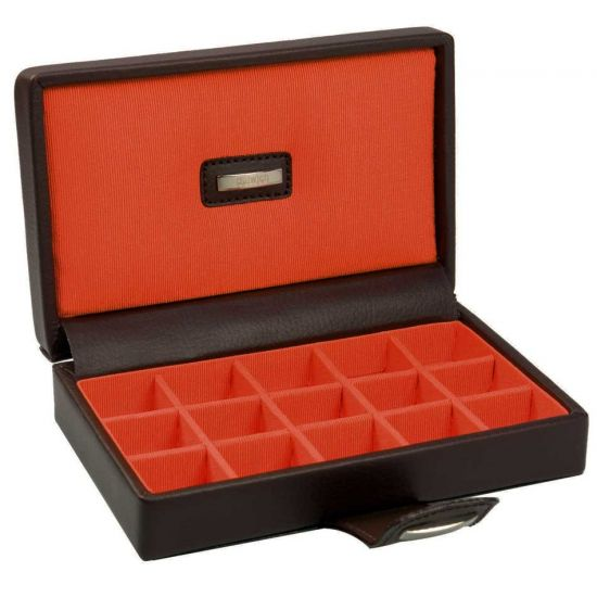 Cufflink Box Brown/Orange