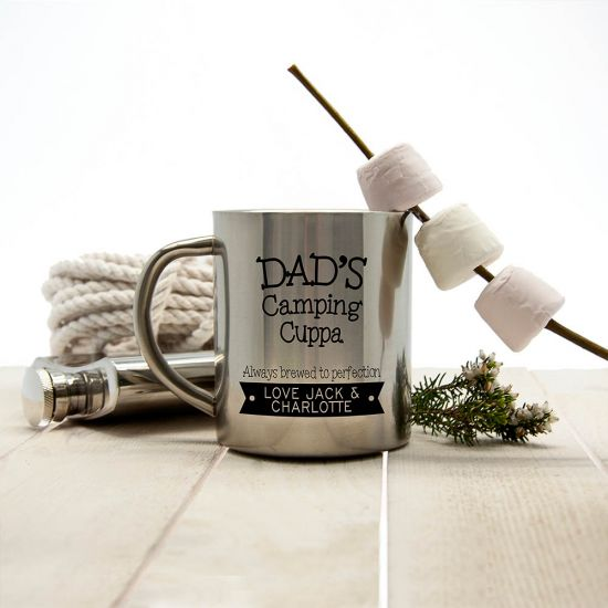 Personalised Dad's Camping Cuppa Brewed To Perfection Outdoor Mug 1