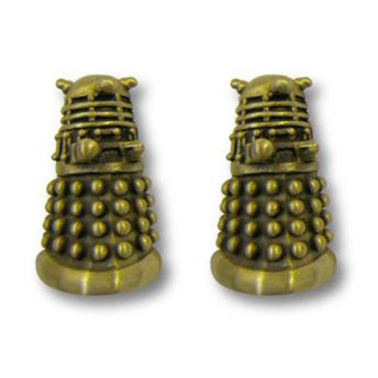 Dalek Cufflinks Gold
