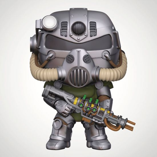 Fallout T-51 Power Armour Pop! Vinyl - Grey Background
