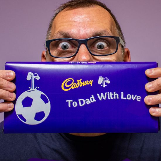 Personalised Sports 360g Cadbury Dairy Milk Bar - Lifestyle