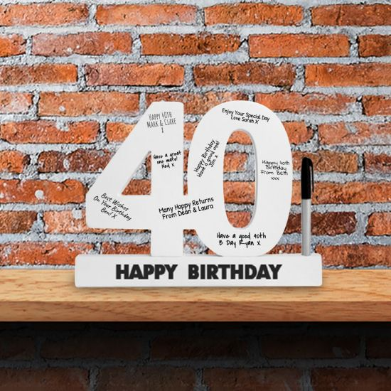 40th Birthday Wooden Numbers - Lifestyle