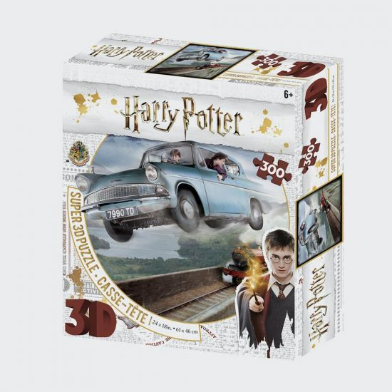 Harry Potter Super 3D Puzzles 300Pc Ford Anglia - grey background