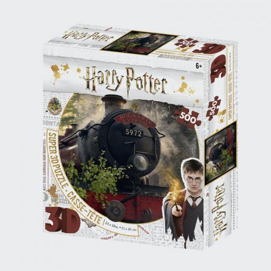 Harry Potter Super 3D Puzzles 500Pc The Hogwarts Express - grey background