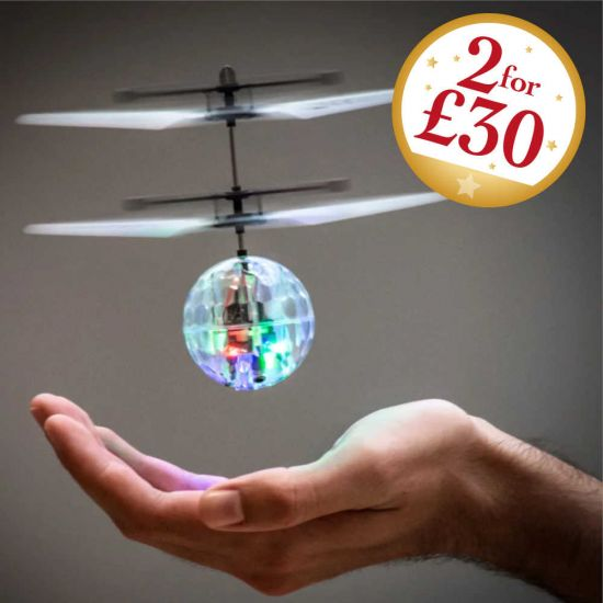 Motion-Controlled Light-Up LED Heliball